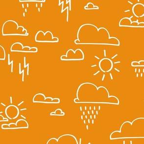 Clouds All Orange