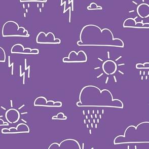 Clouds All Purple
