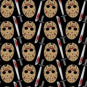 Friday the 13th Hockey Mask & Machete