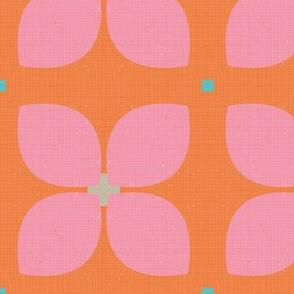 MCM Bold Linen Geo Garden M+M Tangerine by Friztin
