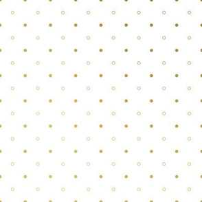 Gold Ombre Polka Dots