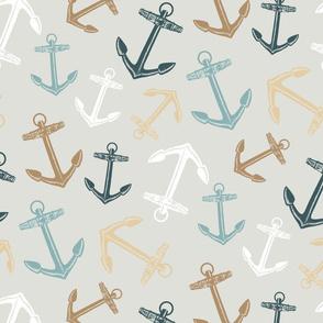 Anchors Pattern Grey