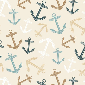 Nautical Anchors Sand