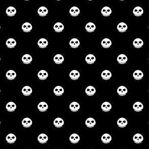 Bone Skull Polka Dots