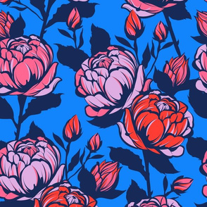 Rose Garden - Blue