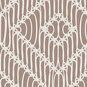 Macrame Squares brown