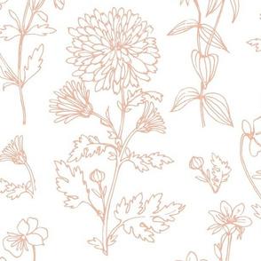 Wild Flower Line - White