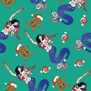 Girl Power Christmas Mermaid