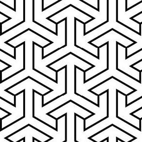 00916821 : tri-arrow (thin outline)