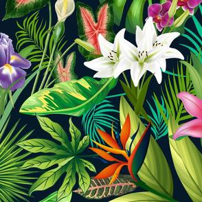 Tropical Lush Sanctuary, A Bohemian Paradise large scale
