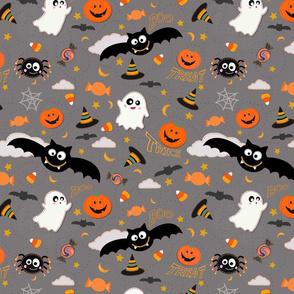 Halloween Fun Grey