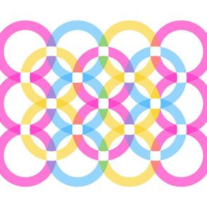 rainbows II // cheater quilt