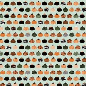 Fall fruit geometric pumpkin design Scandinavian style halloween pattern orange mint boys SMALL