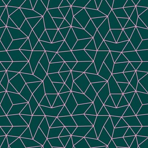 Abstract minimal geometric triangle raster basic neutral trend teal night pink winter SMALL