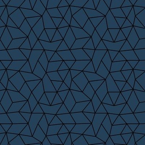 Abstract minimal geometric triangle raster basic neutral trend navy blue night fall winter SMALL