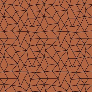 Abstract minimal geometric triangle raster basic neutral trend rust copper brown fall winter SMALL