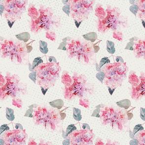 full bloom watercolor by rysunki_malunki