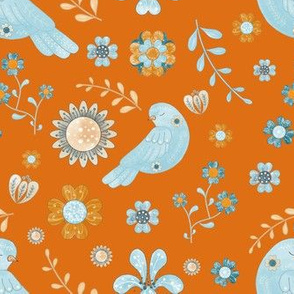 1030 bird and floral folk art 05