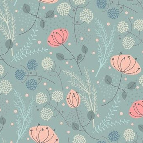 wildflower field  blue