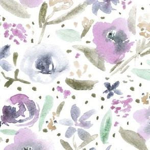Bloom in Paris • saturated • watercolor florals