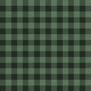 "1/2"" Buffalo plaid - northwoods green and black check - gingham  - Christmas Pl"