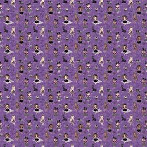 Custom Gothic dolls violet