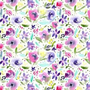 Bloom in Paris • smaller scale • watercolor flowers