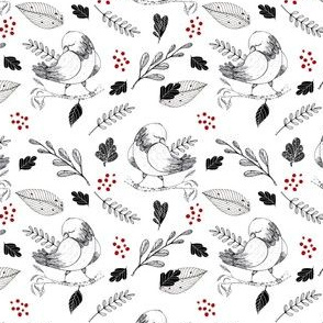 1039 black and red floral with bird 03