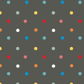 1063 Colorful Dots - anthrazite