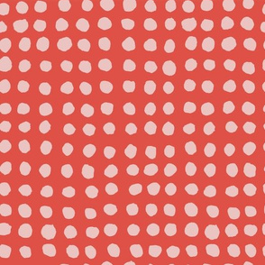 Hand Painted Polka Dot Red + Pink