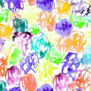 Rainbow mess N2 • watercolor scrawls