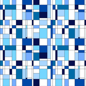 Mondrian Inspired Blue