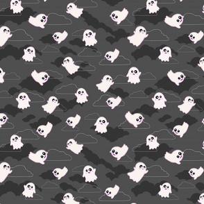Happy Ghosts Grey