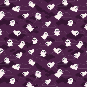 Happy Ghosts Purple