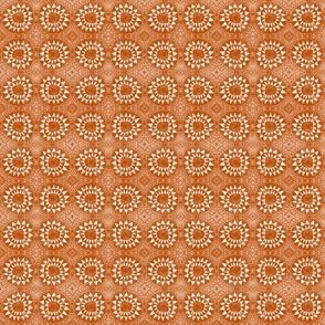 Tribal Bohemian Circles of Triangles / Terracotta