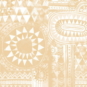 Tribal Bohemian Patchwork / Beige