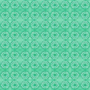 Tribal Bohemian Circles of Triangles / Green