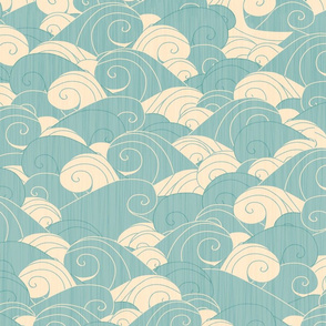 PIrate Waves light blue