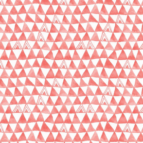 Tribal Bohemian Triangles / Coral Pink