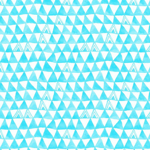 Tribal Bohemian Triangles / Neon Blue