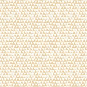 Tribal Bohemian Triangles / Beige