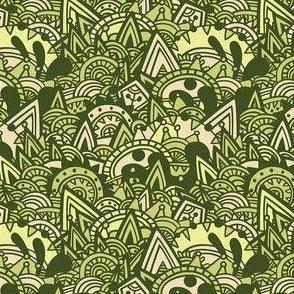 Mayan Fantasy / Green Moss