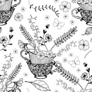 1148 INKED FLOWERS for CM 2019  - white