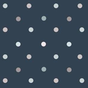 1165 Light Shaded Dots on dark - navy