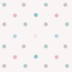1170 Muted Pink _ Blue Dots Mix - creme