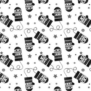 1188 B Black Mittens
