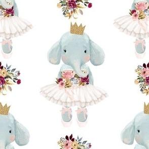 """8"""" Ballerina Elephant with White Back"""