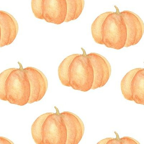 Picked Pumpkin | Orange & White | Renee Davis