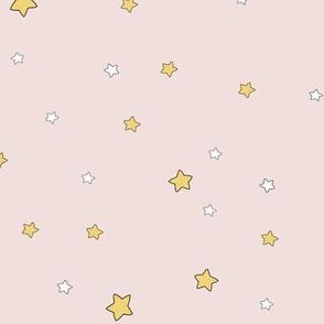 1194 Reindeer Babes Nursery - coordinate2 stars - blush