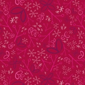 Ditsy Floral Fat Eighth // Bright + Playful Color with Floral and Botanical Motifs // Quilting Collection // Small Scale // ZirkusDesign